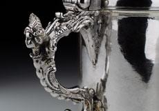 Detail images: Großer silberner Hochzeits-Deckelhumpen mit Datierung 1772