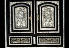 Detail images: Kabinettschränkchen im Renaissance-Stil