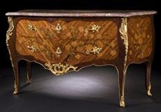 Detail images: Bedeutende französische Louis XV-Kommode um 1755, signiert von Christophe Wolff
