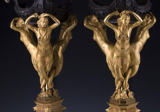 Detail images: Paar bedeutende Tischkandelaber