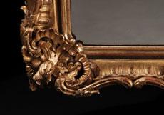 Detailabbildung: Großer Rokoko-Wandspiegel