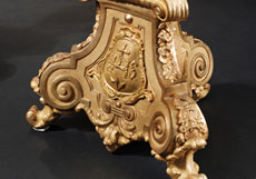 Detail images: Paar große feuervergoldete Kandelaber