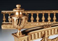 Detail images: Französische Kamingarnitur in vergoldeter Bronze