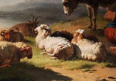 Detail images: Eugène Verboeckhoven, 1799 Warneton - 1881 Brüssel