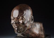 Detail images: Bronzekopf eines Grimasse schneidenden Mannes nach Modellvorbild von Franz Xaver Messerschmidt (1736 Wiesensteig - 1783 Pressburg)