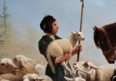 Detail images: Henriette Ronner-Knip, 1821 Amsterdam - 1909 Brüssel