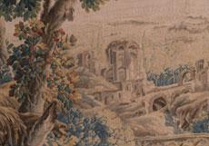Detail images: Großer Aubusson Gobelin 255 x 383 cm.