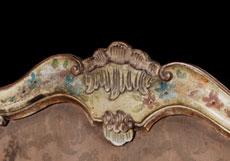 Detail images: Seltenes, zusammengehöriges Ensemble eines kleinen Rokoko-Schreibtisches mit Armlehnsessel