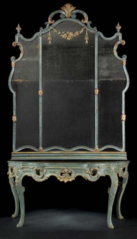 Wandkonsoltisch mit hohem Spiegel