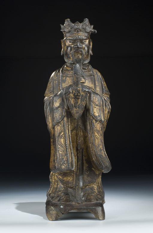 Bronzefigur eines chinesischen Würdenträgers