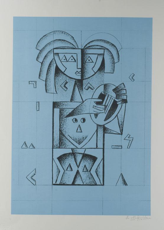 Ibrahim Kodra, 1918 Ishnu/ Albanien - 2006 Mailand