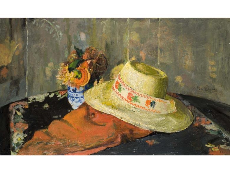 Alice-Emma Ronner, 1857 Brüssel - 1906, Stilleben ihrer Hand in den Museen Antwerpen, Brüssel und Den Haag.