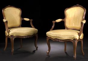 Detail images:  Paar Louis XV-Sessel