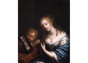 Detail images:  Caspar Netscher, 1639 - 1684