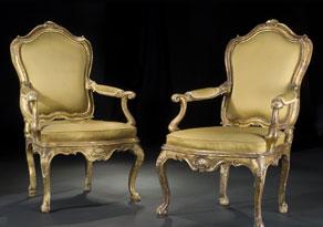 Detail images:  Paar italienische Rokoko-Sessel