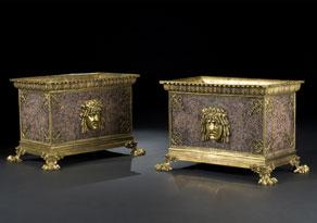 Detail images:  Paar Empire-Jardinièren