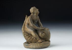 Detail images:  Schnitzbozzetto einer Brunnenfigur