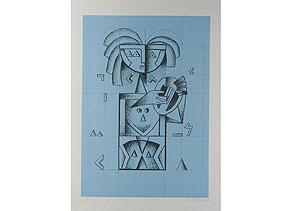 Detail images:  Ibrahim Kodra, 1918 Ishnu/ Albanien - 2006 Mailand