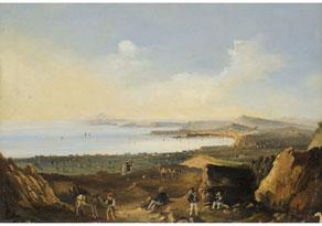 Salvatore Fergola, 1799 - 1874 Neapel, Werke seiner Hand in mehreren öffentlichen Sammlungen, wie im Museo di Capo di Monte, Neapel und im Palazzo Reale, Neapel. Er nahm an mehreren Ausstellungen, wie z.B. in Neapel teil. Ab 1845 unter dem Ei