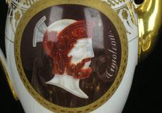 Detail images: Französisches Porzellanservice des Empire, mit römischen Caesaren- und Feldherrenportraits