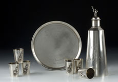 Russisches Wodka-Set in Silber
