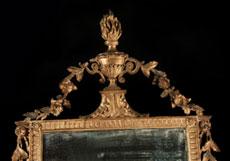 Detail images: Geschnitzter und vergoldeter Louis XVI-Wandspiegel