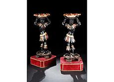 Detailabbildung: Paar Girandolen in Form von vollplastisch gestalteten venezianischen Mohren