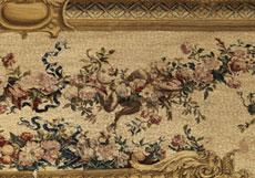 Detail images: Bedeutender, musealer Gobelin aus der Pariser Gobelinmanufaktur Jean und Michel Audran, um 1750