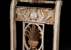 Detail images: Satz von vier klassizistischen Stühlen