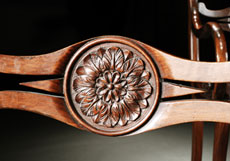 Detail images: Satz von vier englischen Empire-Sesseln