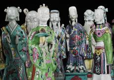 Detail images: Satz von 14 Porzellanfiguren von Göttergestalten und Würdenträgern