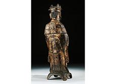 Detail images: Bronzefigur eines chinesischen Würdenträgers