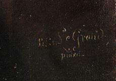 Detail images: P. S. Le Grand, 1758 Pont Lévêque / Rouen - 1829 Bern, wohl Pierre Nicolas Scott-Le Grand.