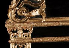 Detail images: Régence-Wandspiegel