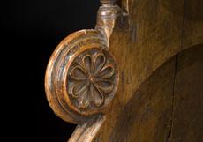 Detail images: Gotischer Chorstuhl