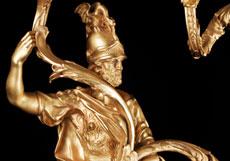 Detail images: Paar Wandappliken in vergoldeter Bronze