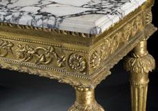 Detail images: Großer Louis XVI-Wandkonsoltisch mit Marmorplatte