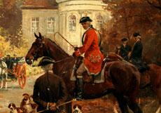 Detail images: Georg Koch, 1857 Berlin - 1936, Der Maler studierte bei Steffeck, Meyerheim und Gussow an der Berliner Akademie. Er war auf zahlreichen Ausstellungen, unter anderem in Paris und Buenos Aires vertreten.