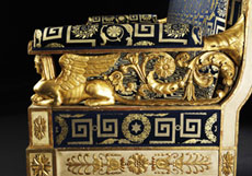 Detail images: Großes, höfisches Empire-Sofa