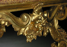 Detail images: Großer Konsoltisch mit Marmorplatte