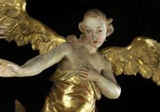 Detailabbildung: Paar geschnitzte Engelsfiguren