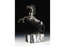 Detail images: Bronzepferd