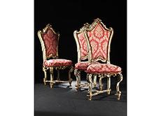 Detail images: Satz von drei Barock-Stühlen