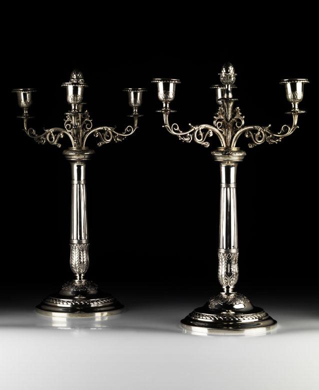 Paar Petersburger Kerzenkandelaber