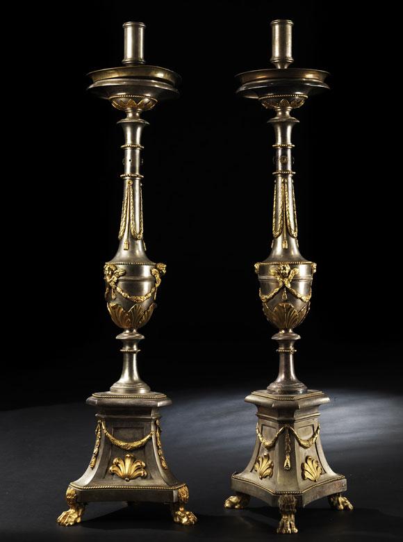 Paar Kerzenkandelaber