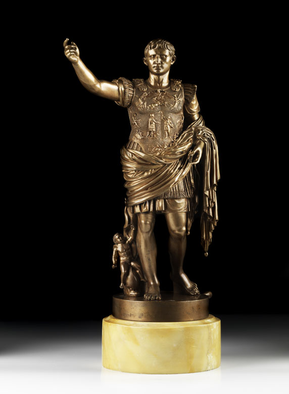 Bronzestandbild des Kaisers Augustus
