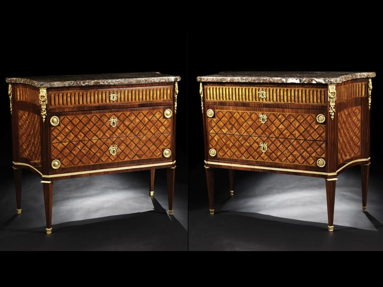 Elegantes Kommodenpaar im Louis XVI-Stil
