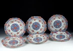 Detail images:  Satz von sechs chinesischen Porzellantellern