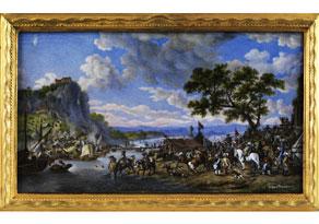 Detail images:  Miniaturgemälde nach einer Vorlage von Wouverman
