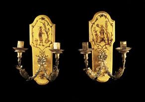 Detail images:  Paar große Wandleuchter